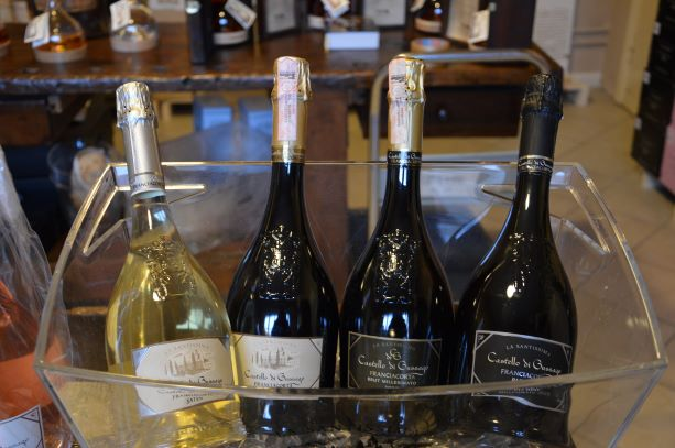 Franciacorta wine bottles