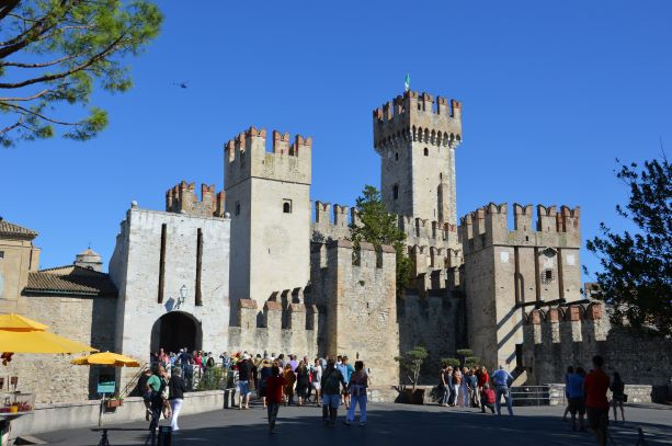The medieval fortress Rocca Scaligera
