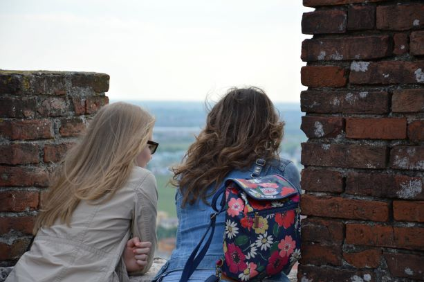 Our guests enjoying the view from the Castle