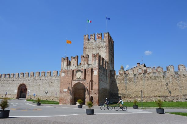 The city walls around Soave