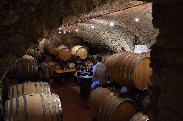 The historical cellar of Le Marognole