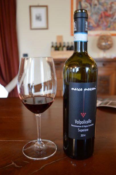 A glass of Mosconi's Vapolicella Superiore