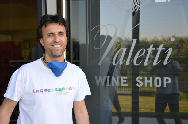 Davide, one of the three guys who run the company, outside his winery