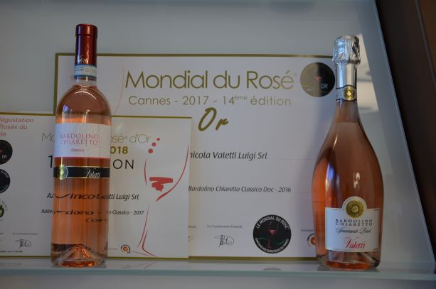 Valetti's bottles of rosè, which have won the competition Le Mondial du Rosè for the last 3 years