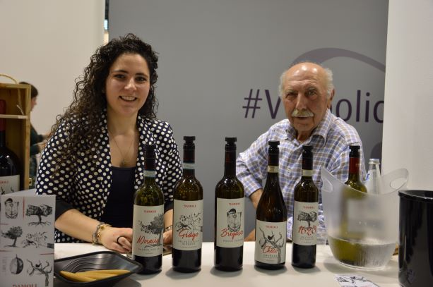 Lara with her dad Bruno present their products