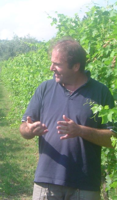 Ferdinando, the owner of the winery, reveals the secrets of his vines