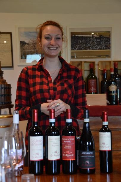 Cecilia ready to get the tasting started